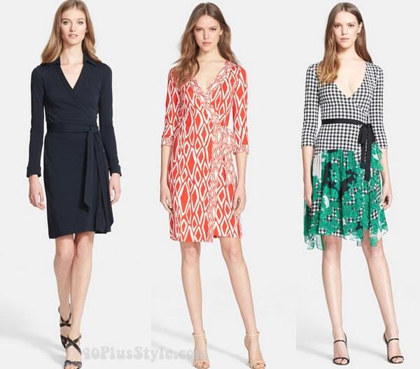 DVF wrap dresses | 40plusstyle.com