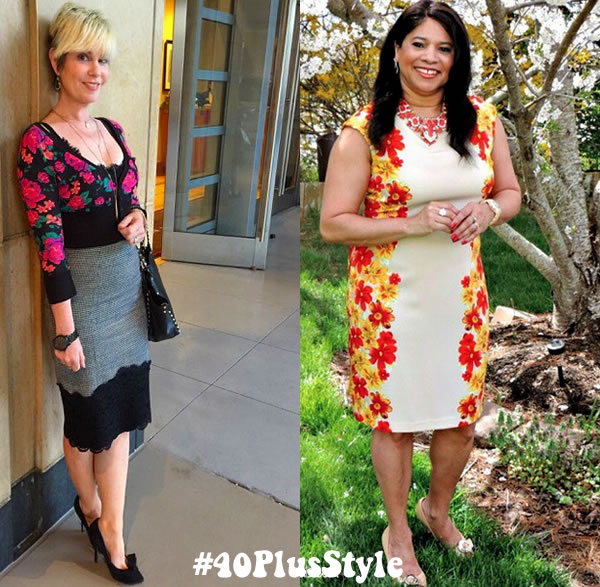 Your #40plusstyle inspiration this week: beautiful colorful and feminine outfits! | 40plusstyle.com