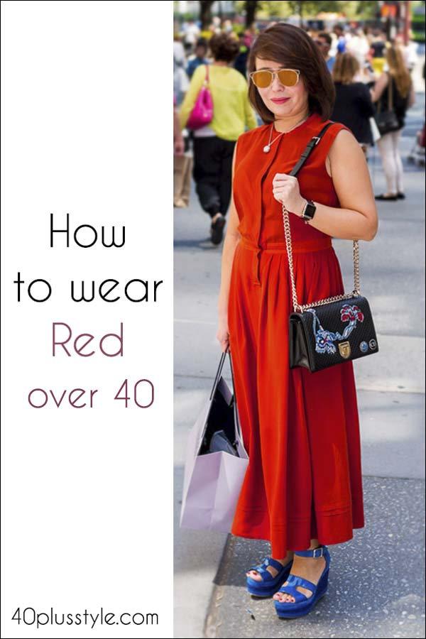 How to wear red over 40 | 40plusstyle.com
