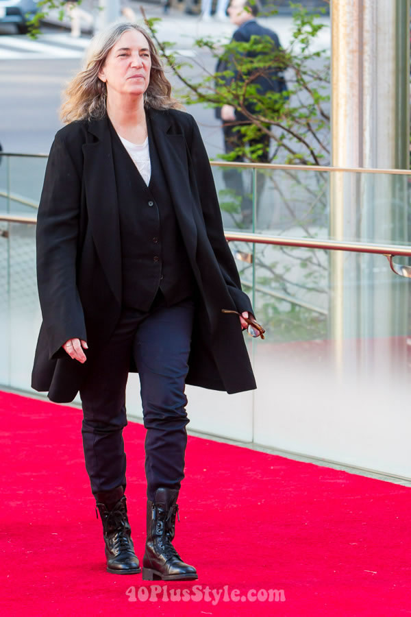 Celebrity style at the New York Ballet Gala - choose your favorite from these 8 looks! - Patti Smith   40plusstyle.com
