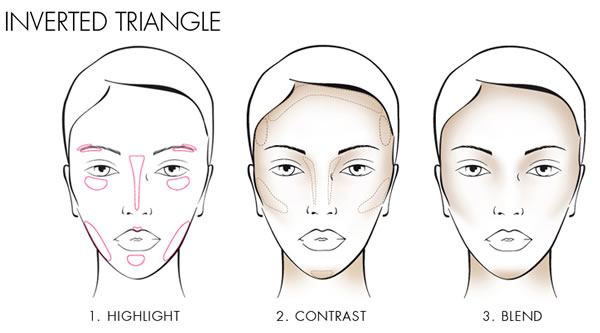 How to contour a heart or inverted triangle shape face | 40plusstyle.com