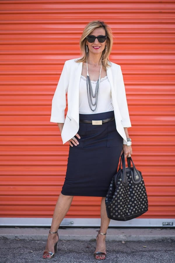 40+Style Inspiration: taking a jacket from day to evening   40plusstyle.com