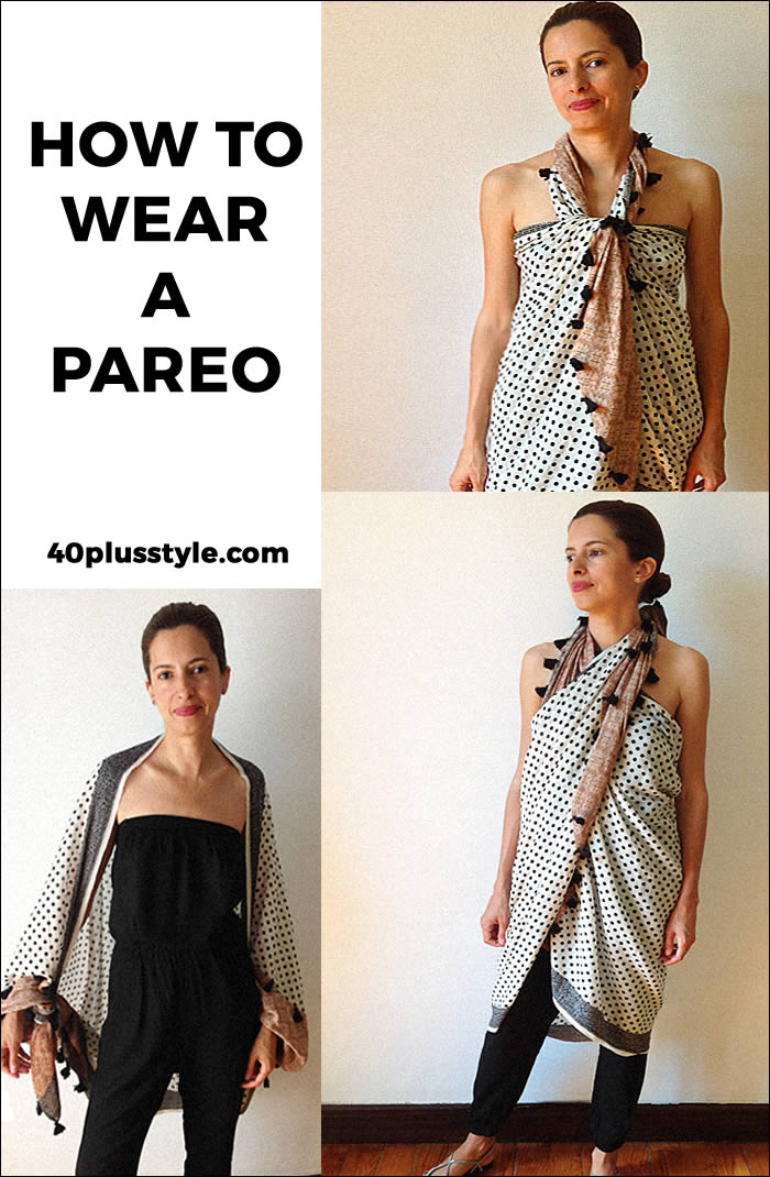 how to wear a pareo