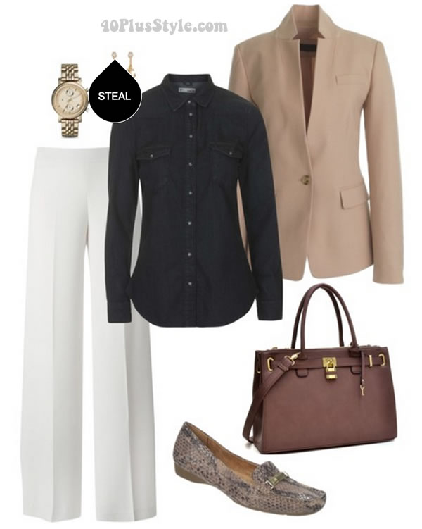 how to wear jeans at work   40plusstyle.com