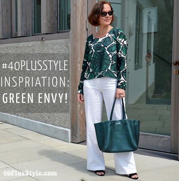 #40plusstyle inspiration: green envy - Choose your favorite from 8 looks! | 40plusstyle.com