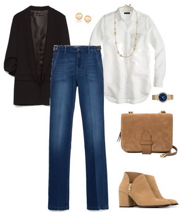 jeans with black and white | 40plusstyle.com