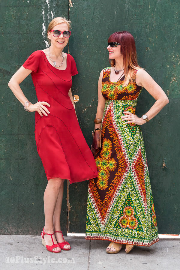 Suzanne and I sporting a reggae vibe at the Fabulous Fashionistas event | 40plusstyle.com