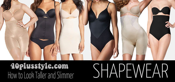 how shapewear can help you look taller and slimmer | 40plusstyle.com