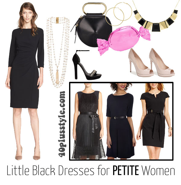 How to dress up a simple black dress