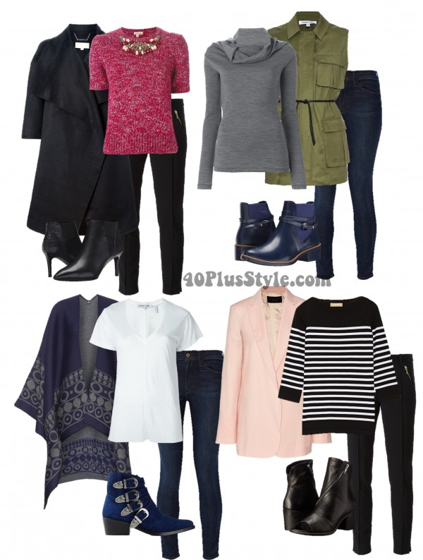 Booties with pants, jeans, and trousers   40plusstyle.com