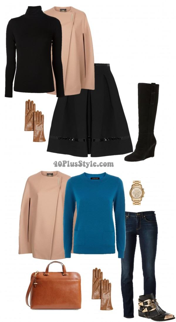 Luxury Chic Cashmere Cape | 40plusstyle.com