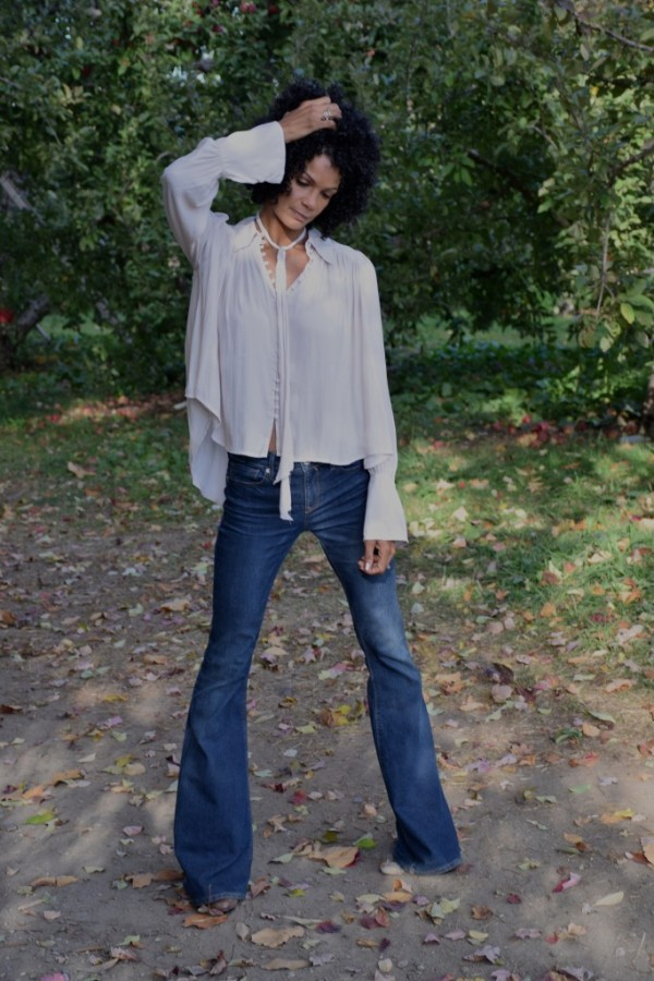 Diana-70s Look-Wide Leg Jeans | 40plusstyle.com