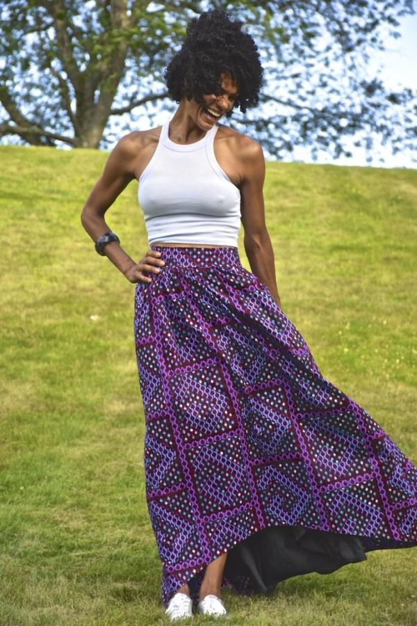 Diana Capozzi Printed Maxi Skirt | 40plusstyle.com