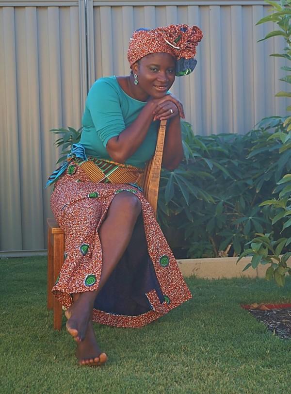 African Print Headwrap Skirt | 40plusstyle.com