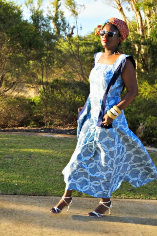 Blue African Print Dress | 40plusstyle.com