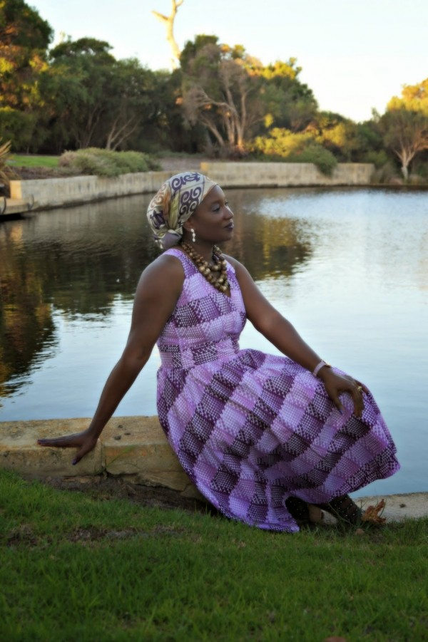 Purple Dress Headwrap| 40plusstyle.com