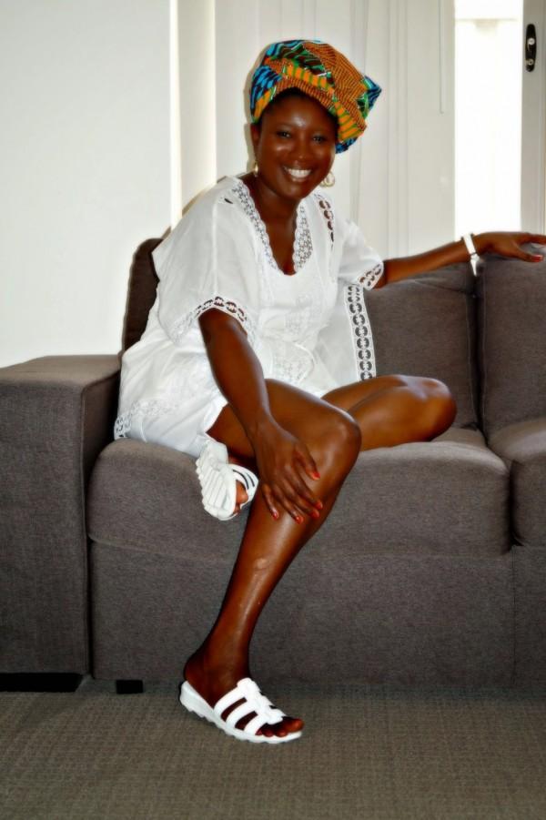 White Dress Sandals Headwrap | 40plusstyle.com