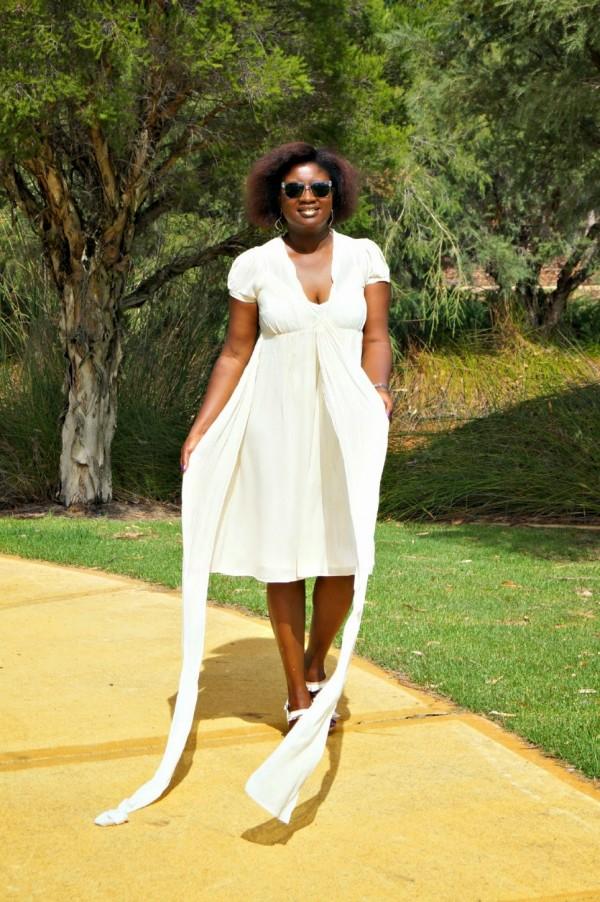 White Dress Sash | 40plusstyle.com