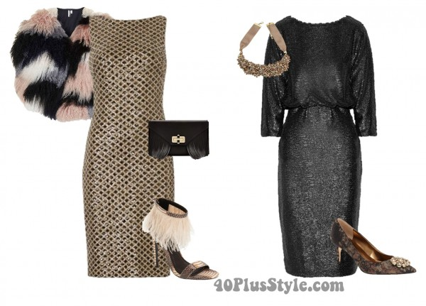 Sequins Dresses   40plusstyle.com