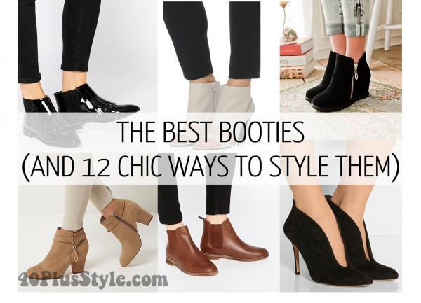 How to wear booties with skirts, dresses and pants! | 40plusstyle.com
