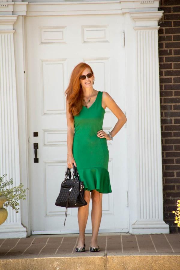 Green Dress   40plusstyle.com