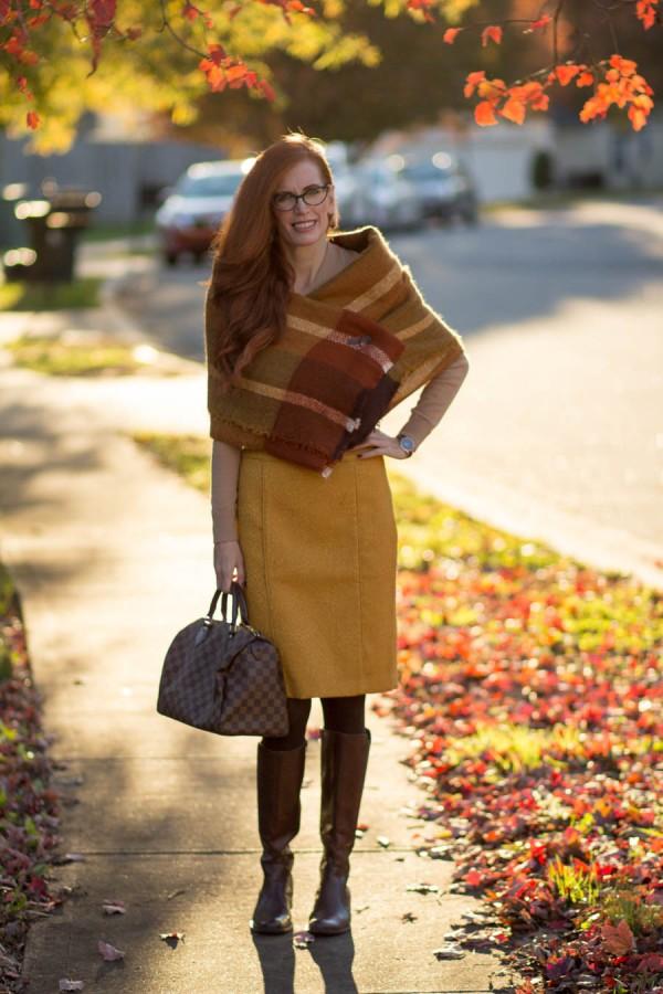 Mustard Skirt   40plusstyle.com