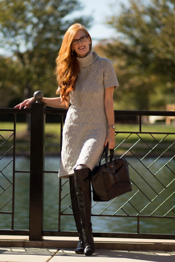 Sweater Dress Over-the-Knee Boots   40plusstyle.com