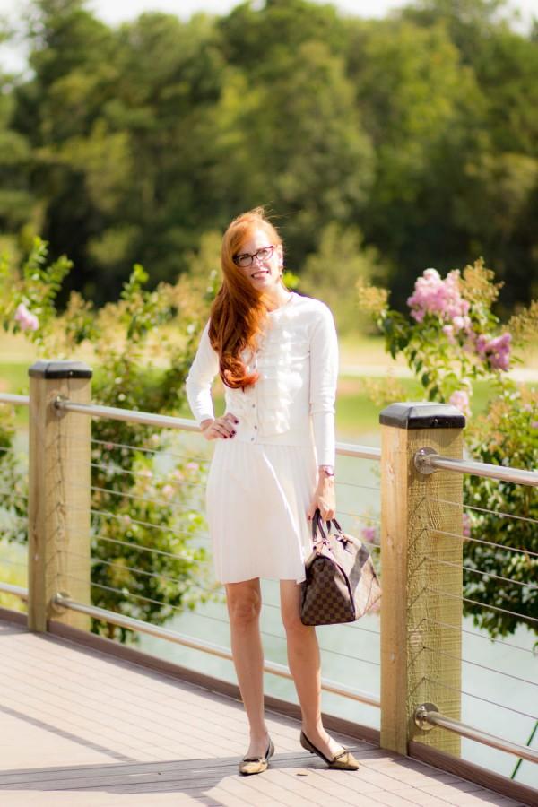 White Skirt Cardigan   40plusstyle.com