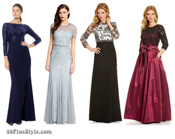 Mother of the Bride Lace and Beaded Long Dresses | 40plusstyle.com