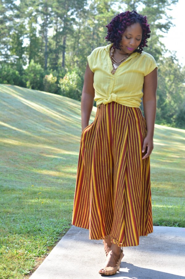 Orange Culottes | 40plusstyle.com