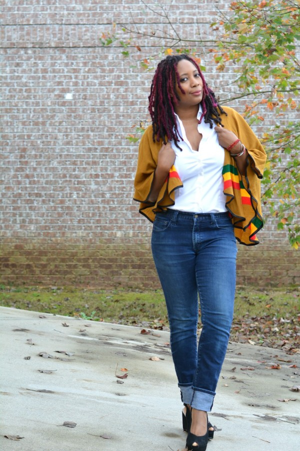 Poncho Jeans | 40plusstyle.com