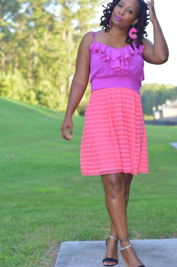 Pink Fuschia Dress Sleeveless   40plusstyle.com