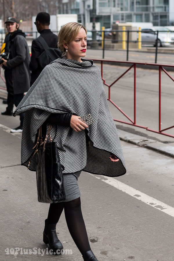 Streetstyle inspiration from Manhattan Vintage Show in New York! | 40plusstyle.com