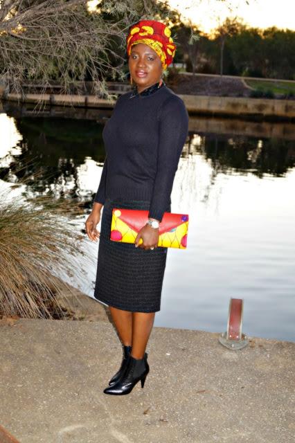 Skirt Booties African Print Headwrap | 40plusstyle.com