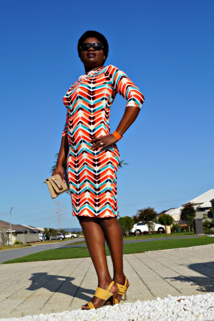 Multicolored Shift Dress | 40plusstyle.com