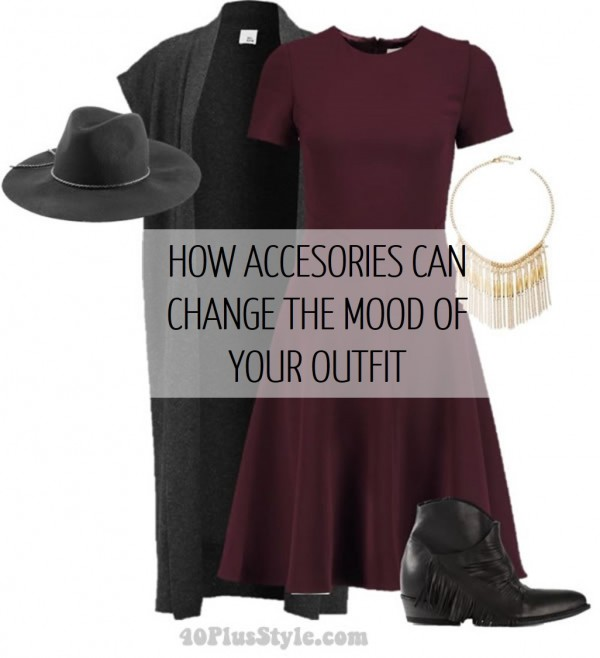 How to change the mood of your outfit with accessories | 40plusstyle.com