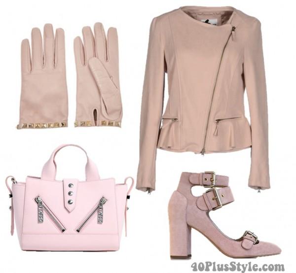 Pink Pantone 2016 Gloves Jacket Bag Heels | 40plusstyle.com