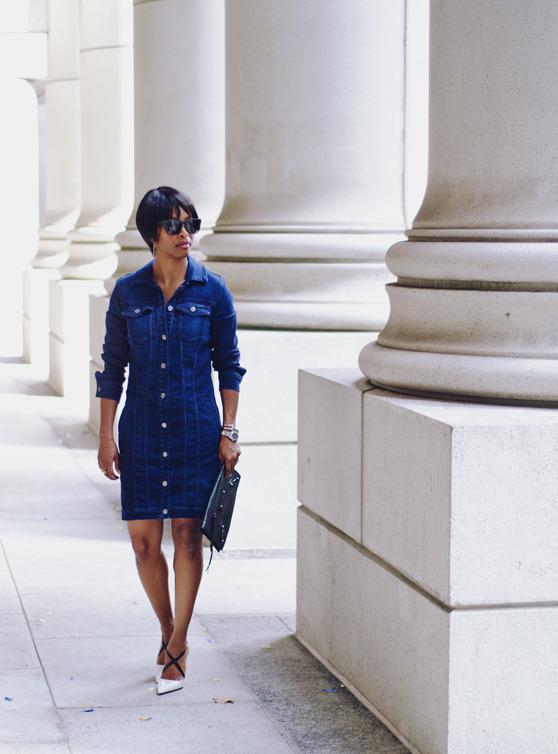 denim dress | 40plusstyle.com