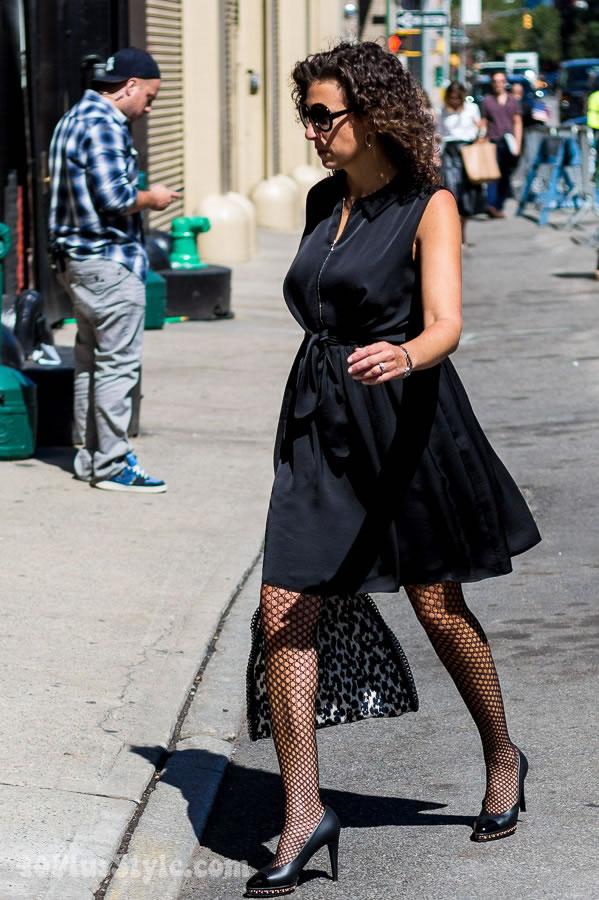 A little black flared dress