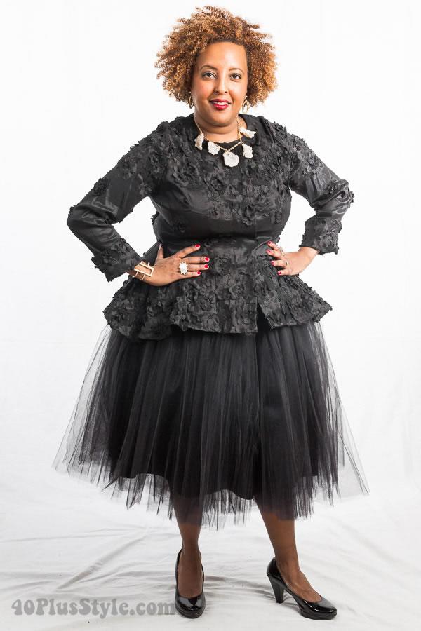 Tulle skirt black | 40plusstyle.com