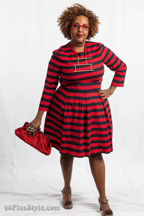All red outfit fashion | 40plusstyle.com