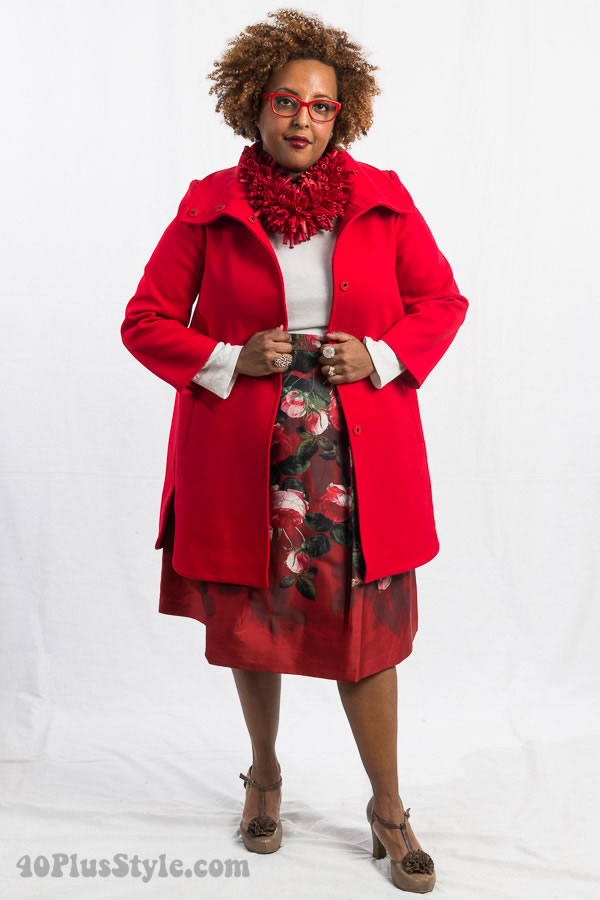 Lady in red | 40plusstyle.com