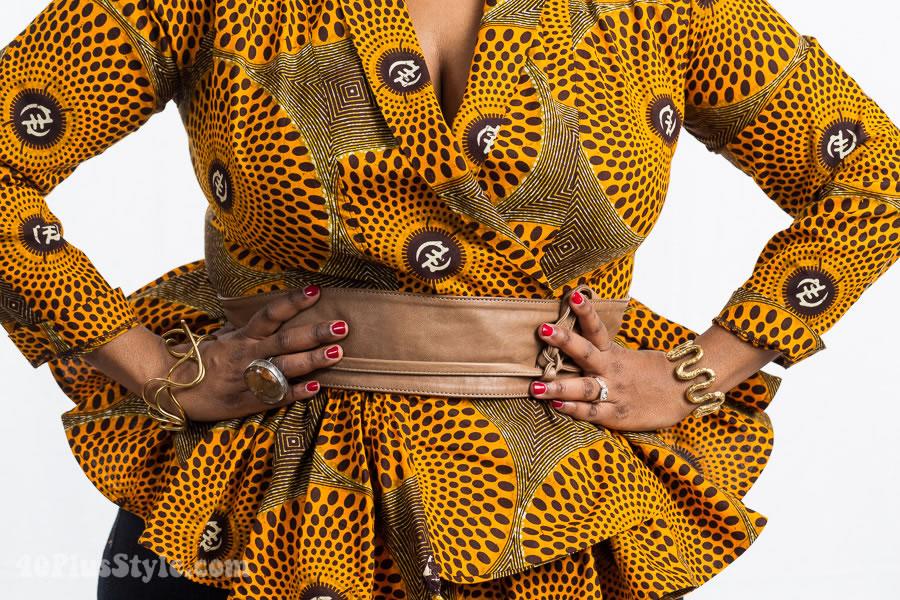Ethiopian pattern fashion | 40plusstyle.com