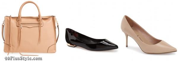 basic nude black accessories | 40plusstyle.com