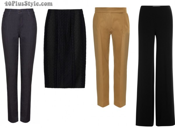 Basic Bottoms wardrobe capsule | 40plusstyle.com