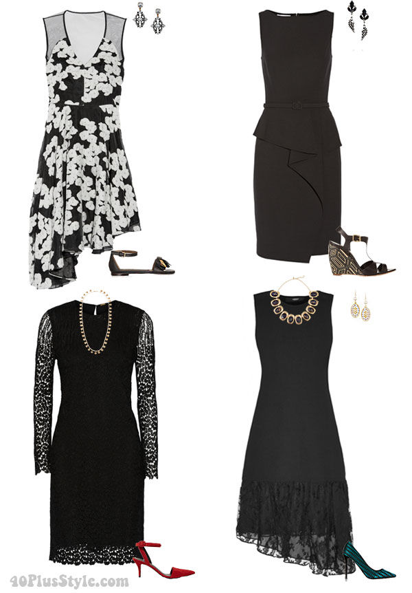 Sale The Outnet Classic Black dress | 40plusstyle.com