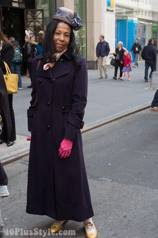 Violet coat | 40plusstyle.com