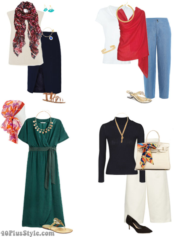 How to wear silk as accessories | 40plusstyle.com