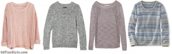 marled sweater layer spring looks | 40plusstyle.com