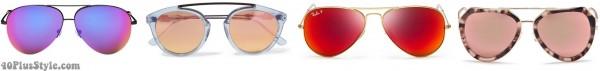 mirrored aviator sunglasses spring | 40plusstyle.com